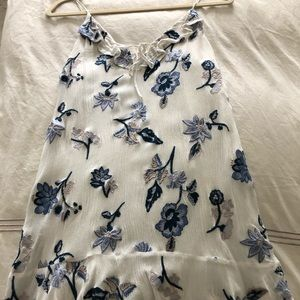 Floral blue and white dress S